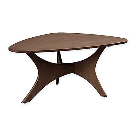 pecan wood coffee table ink ivy blaze triangle wood coffee table in pecan bed
