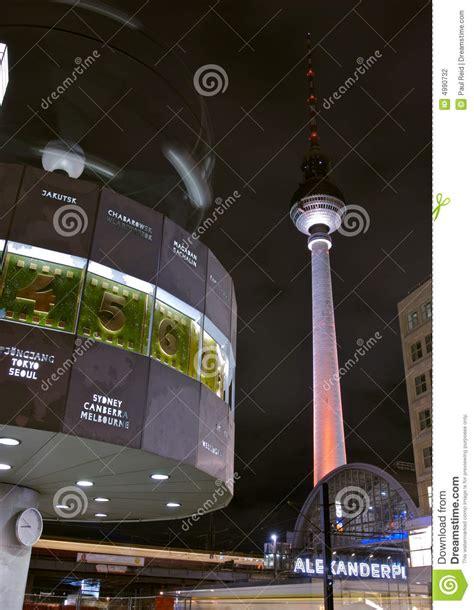 fernsehturm alexanderplatz clock stock photo image