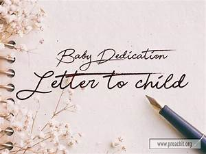 Sermon By Title  Baby Dedication Letter To Child