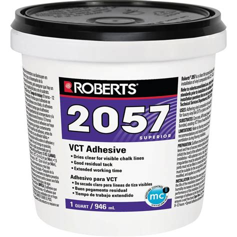 tile flooring glue roberts 2057 1 qt premium vinyl composition tile glue adhesive 2057 0 the home depot