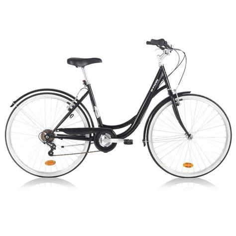 si e decathlon bicicletă oraş elops 100 negru decathlon ro