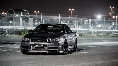 cars nissan skyline  gt  front angle view wallpaper