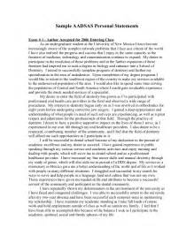 personal statements for applications sles personal statement exle http www