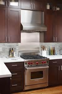 kitchens with stainless steel backsplash stainless backsplash