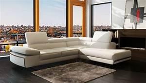 canape nouveau design en cuir haut de gamme cabourg With tapis ethnique avec canape cuir italien direct usine