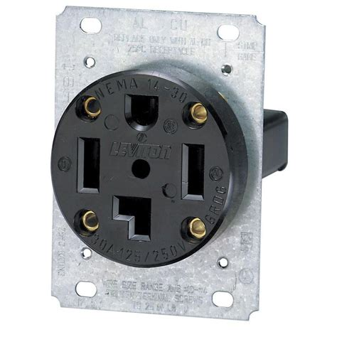 Electric Dryer Receptacle Wiring Diagram by Leviton 30 Industrial Flush Mount Shallow Single