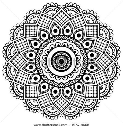 mandala  ornament pattern stock vector