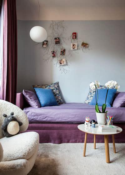 chambre mauve et bleu couleur aubergine