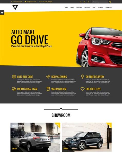 Car Designer Website by 86 Best Car Auto Website Templates Free Premium