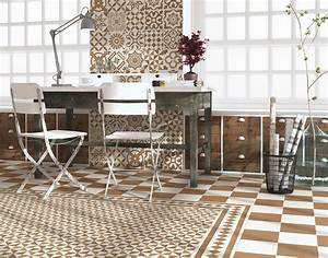 Carrelage Imitation Ciment Beige Et Blanc Mix 20x20 Cm