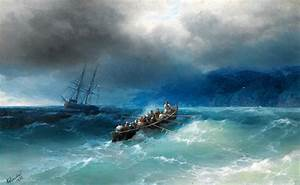 Storm Over The Black Sea Painting by Ivan Aivazovsky
