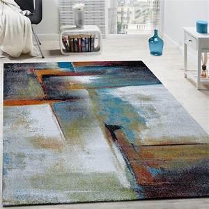 Teppiche Wohnzimmer : designer teppich modern kurzflor wohnzimmer bunt trendig ~ Pilothousefishingboats.com Haus und Dekorationen