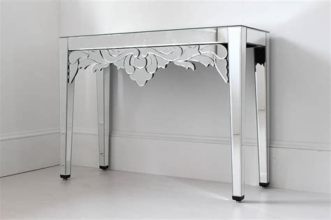 long mirrored console table mirrored console table with drawers original mirrored