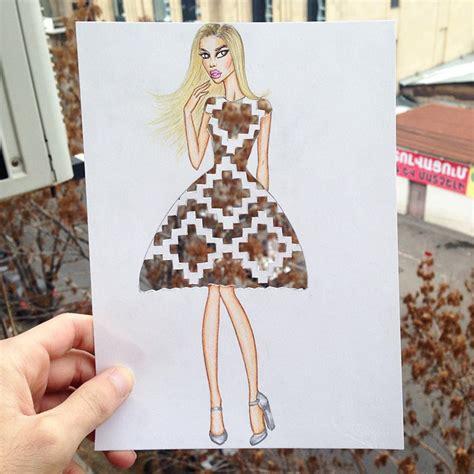 armenian illustrator completes  cut  dresses