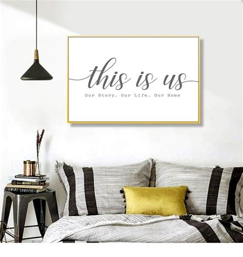Rustic home decor | my home decor guide. Modern Our Story Our Life Our Home Black and White Canvas Prints Wall Art Paintings POP Wall ...