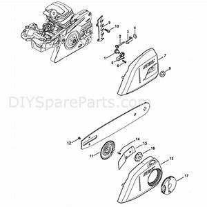 Stihl Ms 231 Chainsaw  Ms231 Z  Parts Diagram  Chain Tensioner  U0026 Sprocket Cover