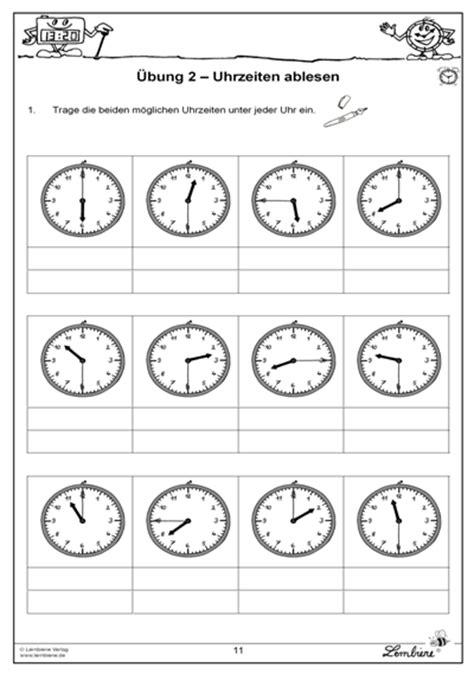 von stunden und minuten materialpaket uhrzeiten