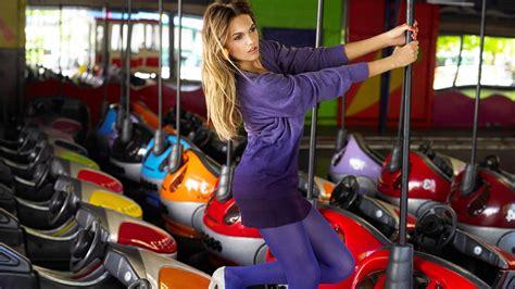 wallpaper colorful women model purple dress pantyhose stockings tights heels