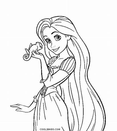 Rapunzel Coloring Printable Tangled Disney Pdf Princess