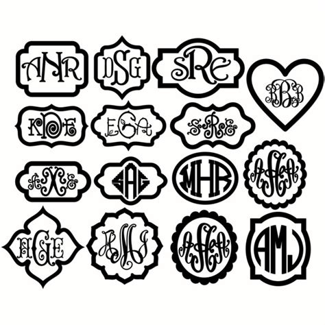 ✓ free for commercial use ✓ high quality images. Monogram Svg Frames Cuttable Designs