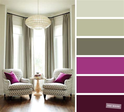 living room color schemes magenta sage color
