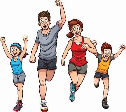 Running Clip Separate Vector Simple Illustration Runners
