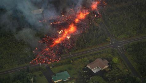 volcano eruption hawaii kilauea damage lava explosion spews steam newshub evacuations following