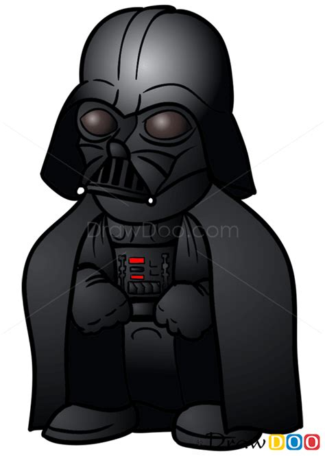 draw darth vader chibi star wars