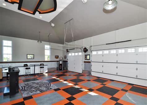 Harley Davidson Flooring   Motorcycle Floor Pad   Garage