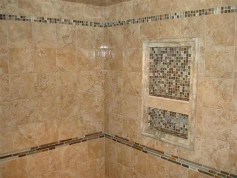 tiny ceramic tile wall niche shower shelf decofurnish