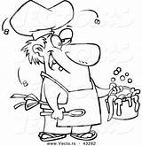 Stew Coloring Cartoon Vector Outline Stinky Chef Gross Serving Ron Getdrawings Template Leishman sketch template