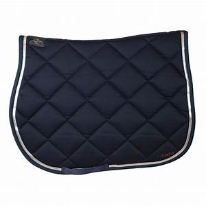 saddle pad blue navy silver ribbon ju et pa With tapis bleu marine