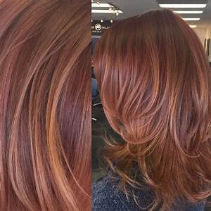 Red and copper toned balayage highlights hair by Carley ...