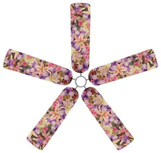 bouquet fan blade covers set of 5 tropical ceiling