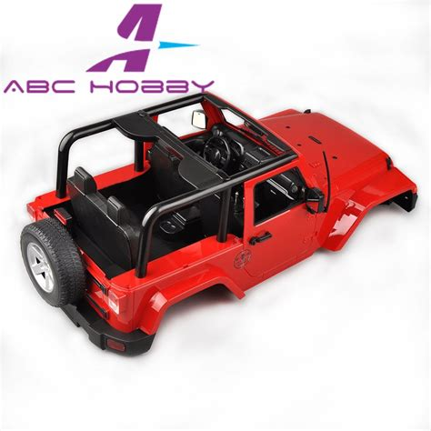 Jeep Red 110 Scale Rc Crawler Body Shell For Axial Scx10