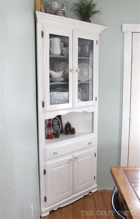 craft patch corner hutch furniture makeover
