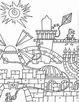 Coloring Jerusalem Purim Temple Sheets Printables Colornimbus Printable Council Sketch Template sketch template