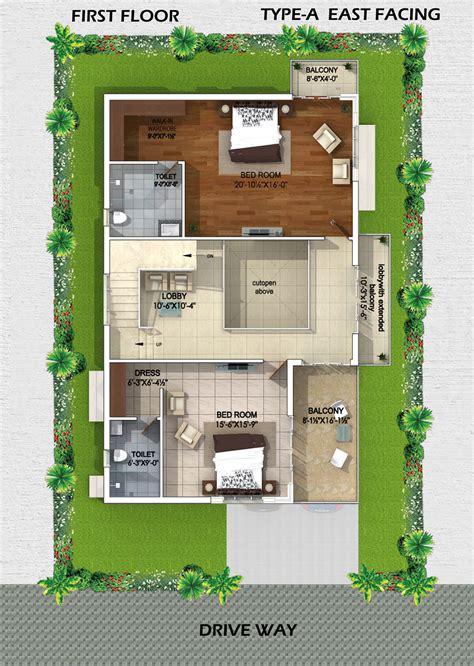 myans villas type  east facing villas