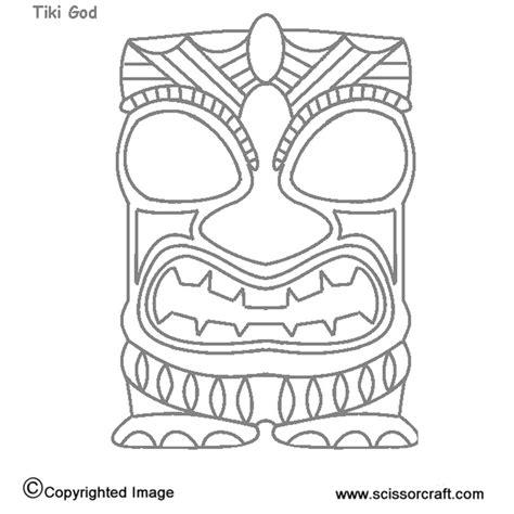 Tiki Totem Templates by Tiki Mask Template Printable Sketch Coloring Page