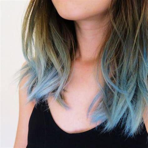 Baby You Blew Me Away Beauty Blaues Ombre Haar