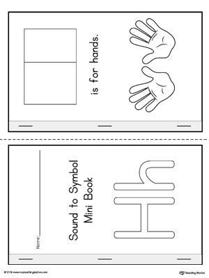 letter  cut  paste printable mini book