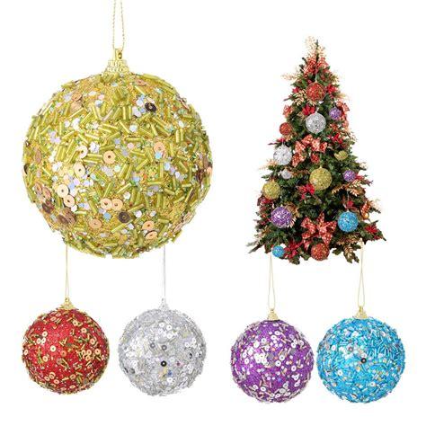 christmas rhinestone glitter baubles balls xmas tree