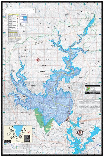 Boat Storage Lake Keowee by Lakes Keowee Jocassee 324 Kingfisher Maps Inc
