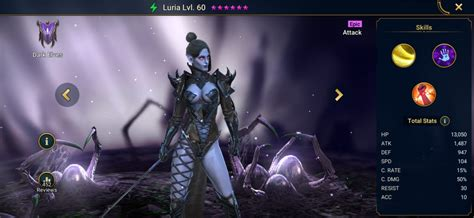 raid shadow legends luria build artifacts masteries guide