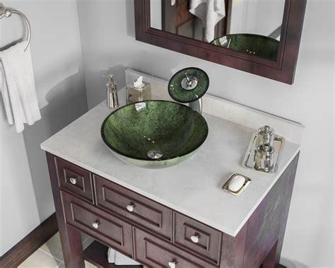 629 Forest Green Glass Vessel Bathroom Sink