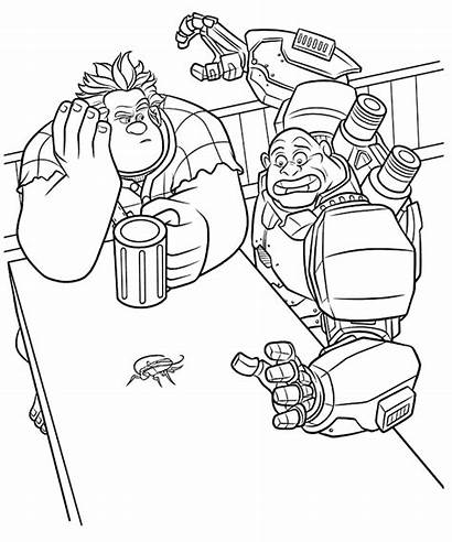 Coloring Pages Ralph Wreck Wreckitralph Printable Ratings