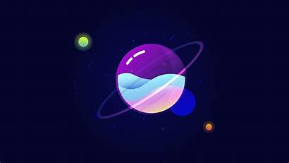 Planet Liquid Colorful 4k Minimal Wallpapers Desktop