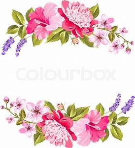 Tropical flower garland Free copy space invitation card