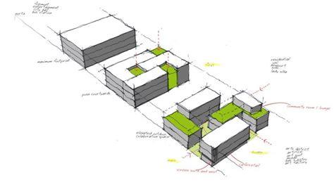 tetris mimari planlari eskiz ve kentsel tasarim semasi