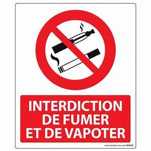 Panneau Interdiction De Fumer : panneau d 39 interdiction de fumer et vapoter en pvc ou ~ Melissatoandfro.com Idées de Décoration